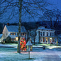 Village Of New Milford - Winter Panoramic by Thomas Schoeller