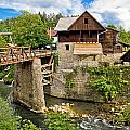 Village Of Rastoke River Canyon by Brch Photography