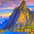 Village On The Naeroyfjord Norway by Dominic Piperata