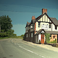 Village Scene In Middle Mayfield, The Rose And Crown Public by Litz Collection