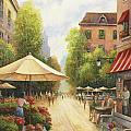 Village Scene by John Zaccheo