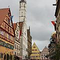 Village Scene Rothenburg Ob Der Tauber by Christiane Schulze Art And Photography