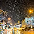 Village Winter Dream - Square by Chris Bordeleau