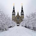 Villanova University In The Snow by Bill Cannon