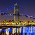Vincent Thomas Bridge - Nightside by Jim Carrell