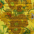 Vincent's Sunflower Song by Jose A Gonzalez Jr