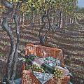 Vineyard Picnic by Gary M Long