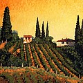 Vineyards Of Tuscany by Santo De Vita