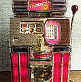 Vintage 10 Cent Slot Machine by Marvin Blaine