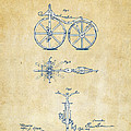 Vintage 1866 Velocipede Bicycle Patent Artwork by Nikki Marie Smith