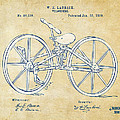 Vintage 1869 Velocipede Bicycle Patent Artwork by Nikki Marie Smith