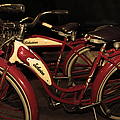 Vintage 1941 Boys And 1946 Girls Bicycle 5d25760 Sepia2 by Wingsdomain Art and Photography