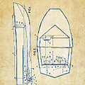 Vintage 1943 Chris Craft Boat Patent Artwork by Nikki Marie Smith