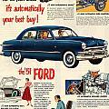 Vintage 1951 Ford Car Advert by Georgia Fowler