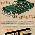 Vintage 1954 Ford Classic Car Advert by Georgia Fowler