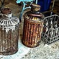 Hdr Vintage Art  Cans And Bottles by Lesa Fine