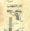 Vintage Automatic Pistol Patent by Mountain Dreams