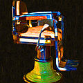Vintage Barber Chair - 20130119 - V1 by Wingsdomain Art and Photography