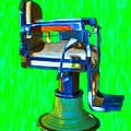 Vintage Barber Chair - 20130119 - V2 by Wingsdomain Art and Photography