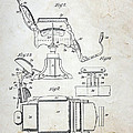 Vintage Barber Chair Patent by Paul Ward