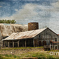 Barn -vintage Barn With Brick Silo - Luther Fine Art by Luther Fine Art