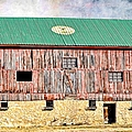 Vintage Barn - Wood And Stone by Liane Wright