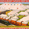 Vintage Barnum And Bailey Poster by Mountain Dreams