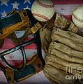 Vintage Baseball American Folk Art by Paul Ward