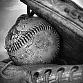 Vintage Baseball And Glove by Dan Sproul