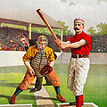 Vintage Baseball Print by John Farr