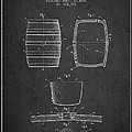 Vintage Beer Keg Patent Drawing from 1898 - Dark by Aged Pixel