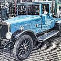 Vintage Blue Car 2 by John Lynch