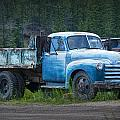 Vintage Blue Chevrolet Pickup Truck by Randall Nyhof