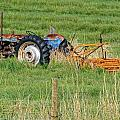 Vintage Blue Tractor by Image Takers Photography LLC