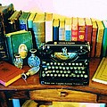 Vintage Books And Typewriter by Peggy Leyva Conley