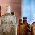 Vintage Bottles by Adam Romanowicz