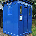 Vintage British Blue Police Phone Box by Tom Conway