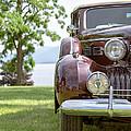 Vintage Caddy At Lake George by Edward Fielding
