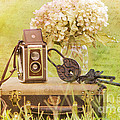 Vintage Camera And Case by Joan McCool