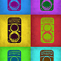 Vintage Camera Pop Art 2 by Naxart Studio