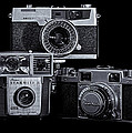 Vintage Camera Trio by Steve Stephenson