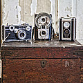 Vintage Cameras At Warehouse 54 by Toni Hopper