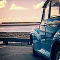 Vintage Car At The Beach  by Edward Fielding