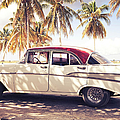 Vintage Car In Cuba by Brzozowska