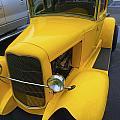 Vintage Car Yellow by Barbara Snyder