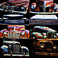 Vintage Cars Collage 2 by Cathy Anderson