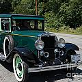 Vintage Cars Green Chevrolet by Carol Ailles