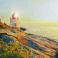 Vintage Castle Hill Light by Marianne Campolongo