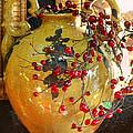 Vintage Ceramic Urn by Linda Phelps