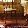 Vintage Chair And Table by Jill Battaglia
